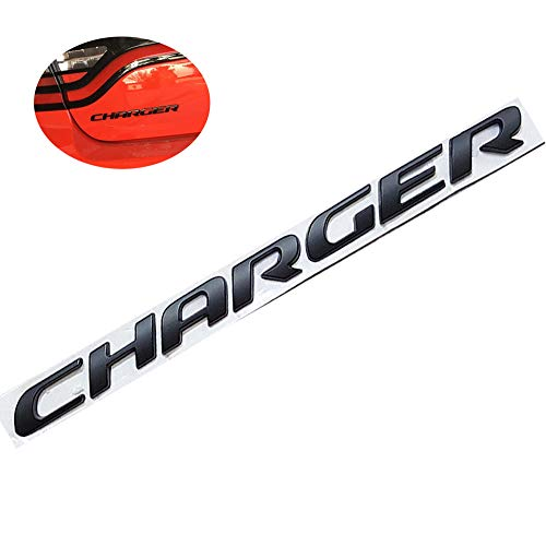 - UpAuto 3D Charger Emblem OEM Letters Stickers for Dodge Charger Rear Trunk (Black)
