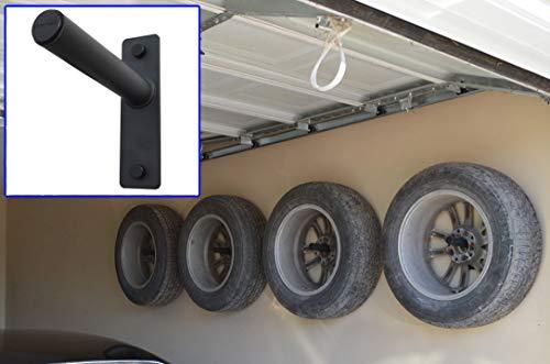 FibreHead FH-4WH Flush Wheel hangers set - Wall mount tire rack alternative Grey