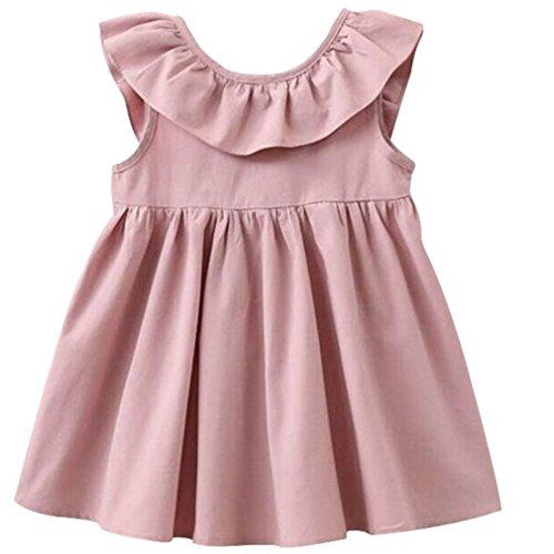 Cotton Sundress Dress - Niyage Toddler Baby Girls Cotton Dress Swing Casual Sundress 6 Pink