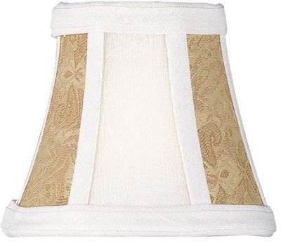 Lite Source CH576-6 6-Inch Lamp Shade, Stone and Cream Gold Two (Tone Wedding Bell)