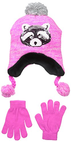 Accessories 22 Big Girls' Chunky Knit Hat with Sequin App...