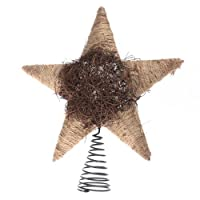 Factory Direct Craft® Natural Christmas Tree Topper with Coil Base (Jute & Twig)