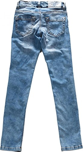 light Super tubo Niñas 9806 1151 light Ancho Effect Vaqueros blue 1422 azul denim azul blue denim gqtAZw