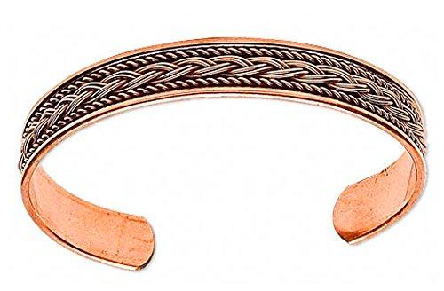 Copper Braided Inlay Cuff Bracelet