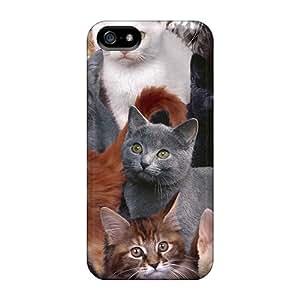Premium Tpu Kittens Cover Skin For Iphone 5/5s