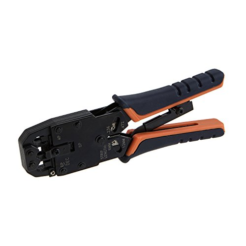 CableCreation Crimp Tool (Cutting & Stripping Tool) for 8P8C/RJ-45, 6P6C/RJ-12, 6P4C/RJ-11, 4P4C (Use Tool Crimp Rj 45)