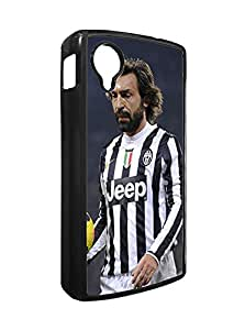 Jewel Google Nexus 5 Case for Ladies, Andrea Pirlo Football Player Case for Google Nexus 5 Case Solid