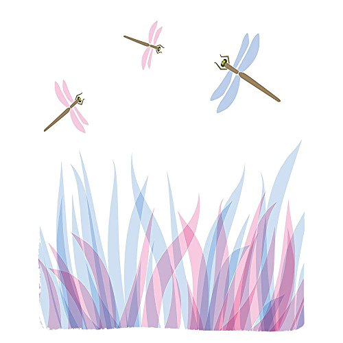 VROSELV Custom Blanket Dragonfly Nature Themed Colorful Birds Like Bugs Flies on Flame Abstract Image Soft Fleece Throw Blanket Violet Pink and Blue - Custom Frame Metal Ladder