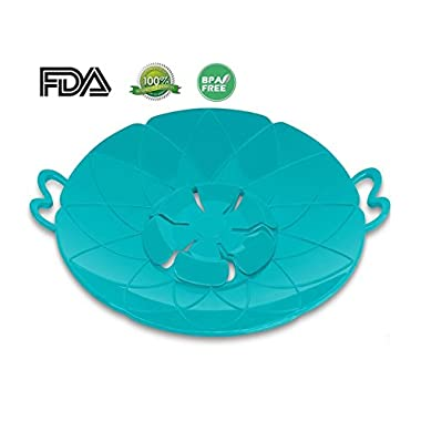 InfiDeals Spill Stopper Boil Over Guard Pot Lid Make Your Cooking Easier (Silicone Lid)
