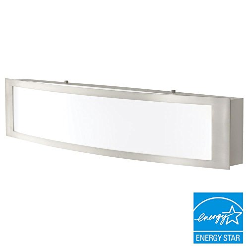 Home Decorators Collection IQP1381L-3 180w LED Bath Light Brushed Nickel ()