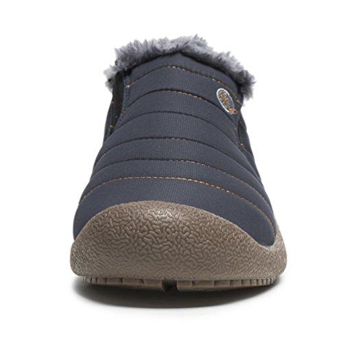 Affinest Stivali Invernali Caldi Caldi In Cotone Scarpe Stivaletti Morbidi E Confortevoli Per Uomini E Donne Neutrali Anziani (blu-b, 42)