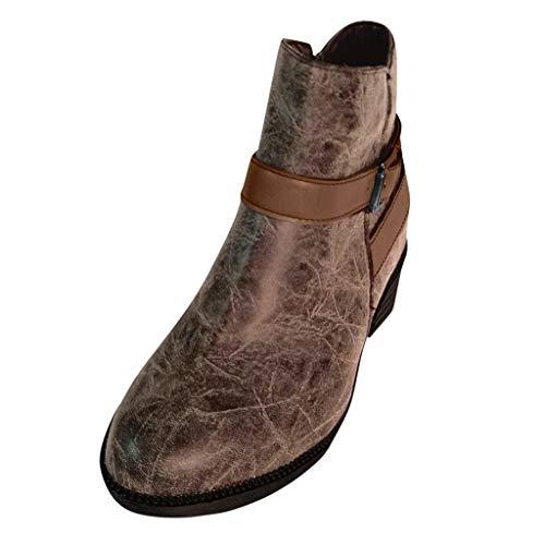 ღLILICATღ Botines Mujer, Zapatos de Tacón Medio Cuero ...