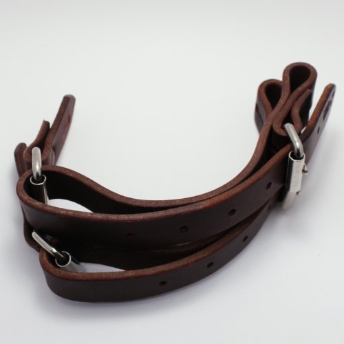 - Colorado Saddlery The Rough Stock Spur Strap, Red Latigo