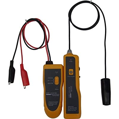 Underground Cable Wire Locator, Easily Locate Pet Fence Wires, Sprinkler Control Wires, Metal Pipes, Electrical Wires, Telephone Wire, Coax Cable