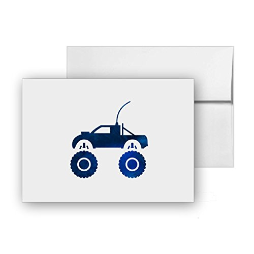Remote Control Truck Remote-control-truck Electronics Monster-truck Fast Engine, Blank Card Invitation Pack, 15 cards at 4x6, with White Envelopes, Item 251388 ()