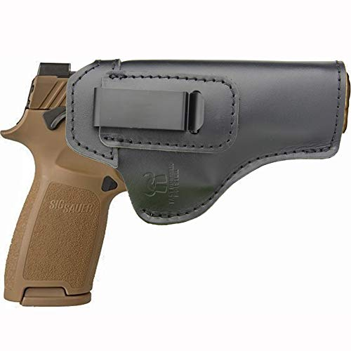 IWB Holster Leather Fits: Sig sauer P320 Compact, Carry, Full Size - Inside Waistband Concealed Carry Pistols Holster -Right Hand Draw (Sig Sauer P320 Compact 9mm For Sale)