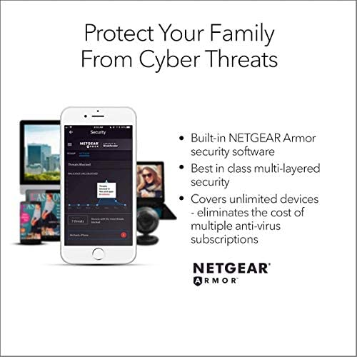 NETGEAR 4-Stream Wifi 6 Router (RAX15) - AX1800 Wireless Speed (Up to one.8Gbps) | Up to 1500 squareft Coverage & 20+ Devices | Ideal for iPhone 11, Samsung Galaxy S20
