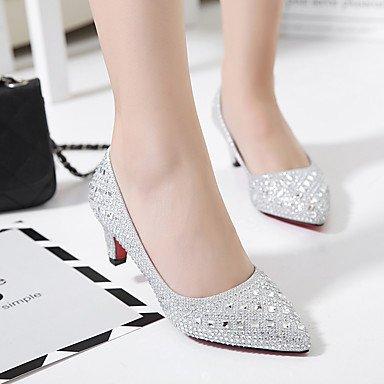 Lvyuan Cm Arrière Chaussures A 5 7 ggx Polyuréthane Femme Rouge Bride Argent Or Printemps Talons À Gold Décontracté FAraHSFxwq