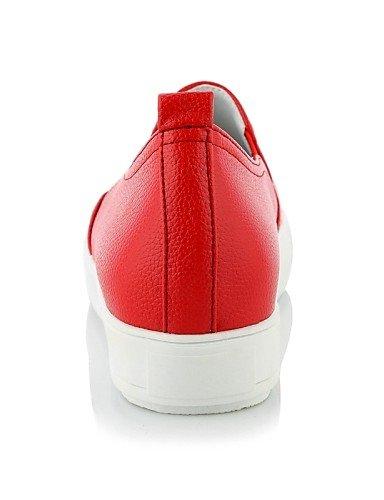 Rojo oficina semicuero Redonda Cn40 Mujer us8 De Casual White Eu38 Vestido Y 5 negro us7 Gyht comfort Punta Red Eu39 Blanco plataforma 5 5 5 mocasines Uk5 Uk6 Zq Zapatos Cn38 Trabajo 6qazE