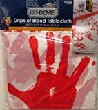 Halloween Drips of Blood Hand Print Tablecloth