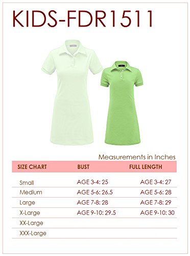 MBJ Kids KDR1511 Mommy and Me Short Sleeve Polo Dress - Made in USA KM Mint by MBJ Kids (Image #5)