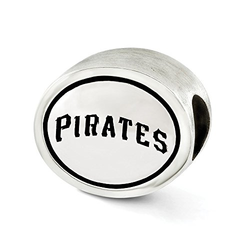 (Jewelry Beads Themed Sterling Silver MLB Siskiyou Buckle Antiqued Pittsburgh Pirates Bead)