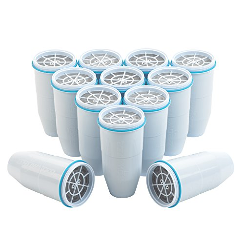 (ZeroWater Replacement Filters 12-Pack BPA-Free Replacement Water Filters for ZeroWater Pitchers and Dispensers NSF Certified to Reduce Lead and Other Heavy Metals )