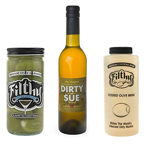 Kit Curing (Ultimate Dirty Martini Kit Includes Dirty Sue Olive Juice, Filthy Stuffed Olives & Olive Juice Brine)