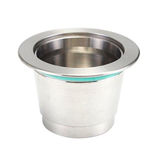 Super fino metal recargable de la cápsula de la vaina para la máquina de café Nespresso Illy