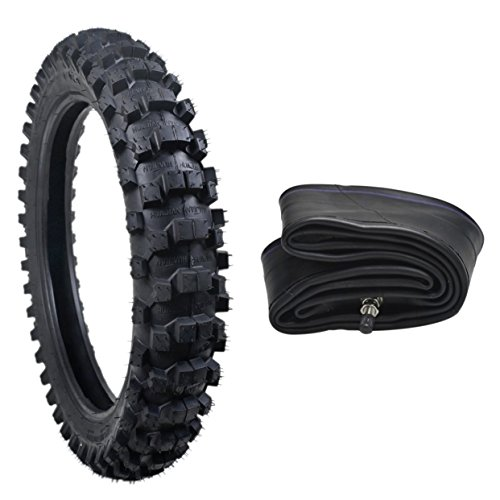 JCMOTO Motocross Tire And Inner Tube Set 90/100-16 | Off Road Mud Motorcycle Replacement (Motocross Tubes)