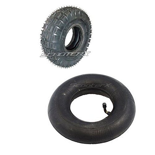 3.00x4 Tire and 3.00x4 Inner Tube COMBO - Commonly Used for Gas Scooters, Pocket Bikes, Mini Choppers, Go Karts, and More! [3207] + [3112]