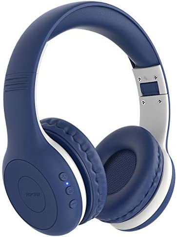Mpow CH6 Plus Kids Bluetooth Headphones Over Ear for teens Bluetooth 5.0 Wireless Headsets for KidsMicrophone HD Stereo Foldable Headphone 15-Hour Playtime for PC/Cellphone/iPad/Study/Travel