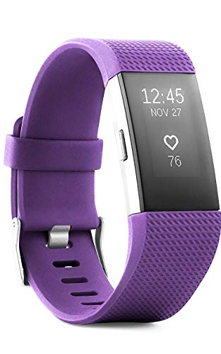 Fitbit - Charge 2 Activity Tracker + Heart Rate (Large) - Plum (International Version)