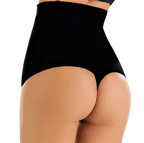 HOLYSNOW Women Tummy Trainer Butt Enhancer High Waist Girdle Thong Black XL/2X