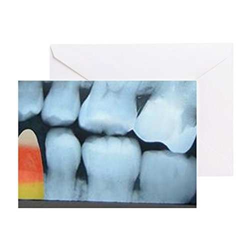 Bold X-ray (CafePress - Dental Xray With Candy - Greeting Card, Note Card, Birthday Card, Blank Inside Matte)