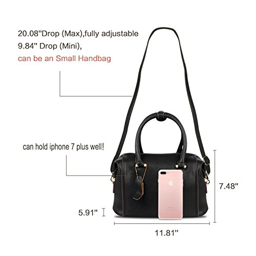 Fashion for Purse Crocodile Ladies Shoulder Girls Bag Women Handbags Handle Bag black Crossbody Leather Top B ZZSY Satchel wOqddfF