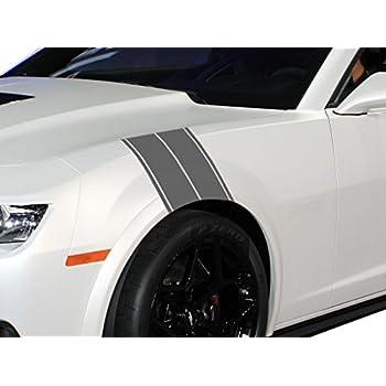 Amazon Com 12 Quot Racing Stripes Silver 12 Quot X72 Quot Vinyl
