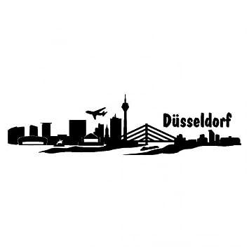 Autoaufkleber Dusseldorf Aufkleber Skyline In 8 Grossen Und 25 Farben