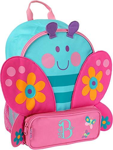 Backpack Garden Butterfly - Monogrammed Me Sidekick Backpack, Turquoise Butterfly, with Garden Monogram B
