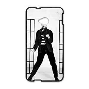 HTC One M7 Cell Phone Case Black Elvis Presley 003 Basic Cell Phone Carrying Cases LV_6073516