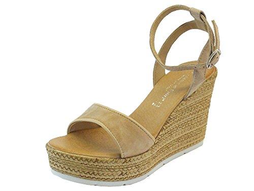 Mercante di Fiori 111096 Sabbia Beige - Sandalias de vestir de Piel para mujer Beige