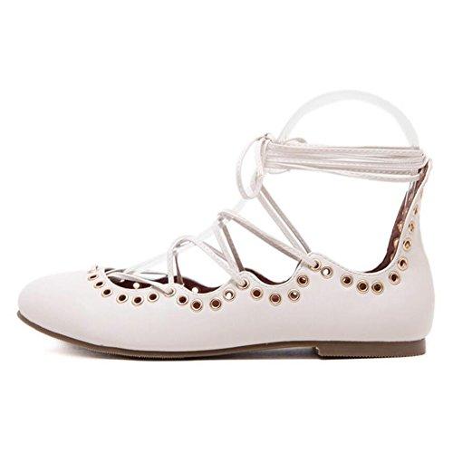 Strap basse GAOLIXIA Sandali Apricot Scarpe da casual Estate Scarpe donna Bocca Donna Nero PU scarpe Primavera con Lace Donna Ankle Shallow Albicocca piatte Zrqf7wZ