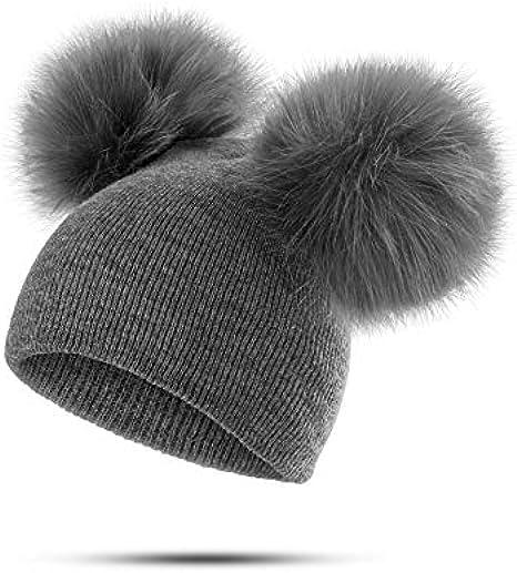 Toddler Kids Baby Boy Girl Pom Hat Winter Warm Crochet Knit Bobble Beanie Cap