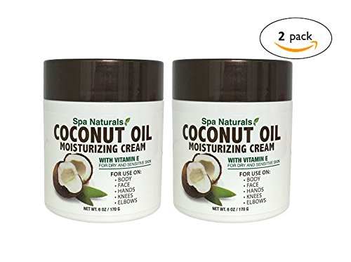 Spa Naturals Extra Virgin Coconut Oil Moisturizing Cream, 12oz (2 Pack) (Moisturizing Stop Ultra Cream)