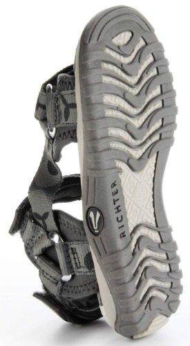 Richter Kinder Sandaletten Outdoor grau Lederdeck Mädchen-Schuhe 5101-322-6610 Grau