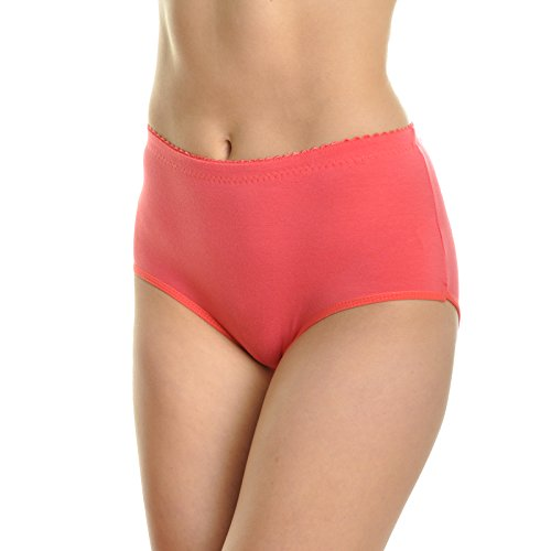 Angelina Cotton BlendClassic Solid High Waisted Briefs, 6 Pack Solid Color, XX-Large (Assorted)