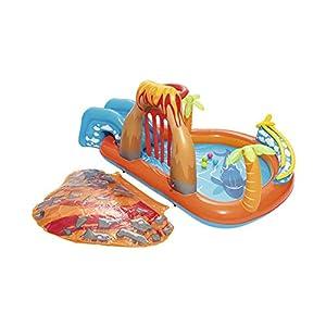 YUHEN Piscina Hinchable Infantil con Tobogan, Piscina Inflable para Bebés de PVC, Piscina Inflable Engrosada para Niños,265x265x104cm(104x104x41in)