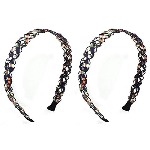 2 PIECES Braided Rope Rag Design Armor Decoration Headband Hair I1B5