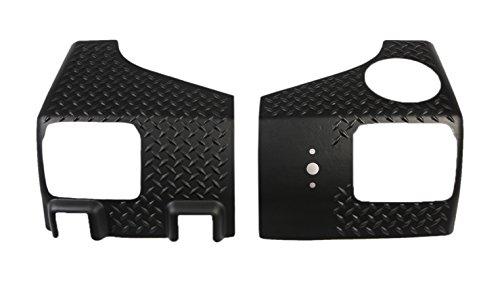 Rugged Ridge 11651.02 Black Diamond Plate Rear Tall Corner - (Jeep Wrangler Diamond Plate)