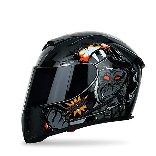 Motorradhelm Integralhelm Damen Herren Roller Helm mit Doppelvisier Sonnenblende, ABS Schale, ECE Zertifiziert